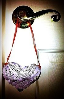 """Love Notes"" Paper Hanging Basket"