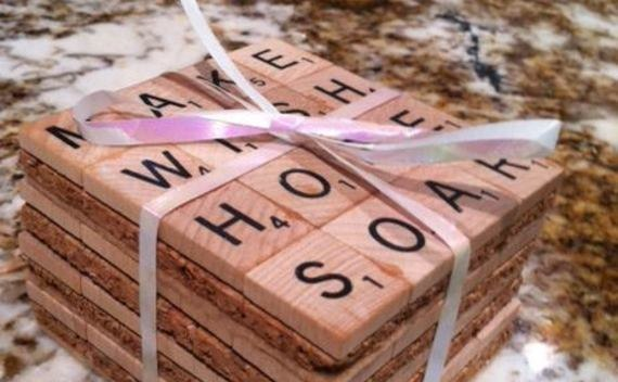 Scrabble Coasters