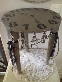 """Life's A Journey"" Shabby Upcycled Side Table"
