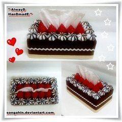 Chocolate Tissue Cake Box Tutorial