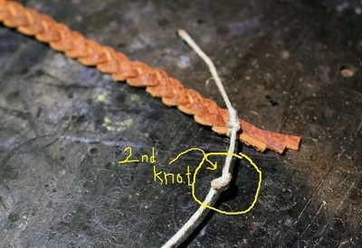 How to make a braided leather bracelet. Braided Leather Bracelet Diy - Step 7