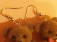 How to make a pair of toy earrings. Teddy Bear Earrings - Step 5