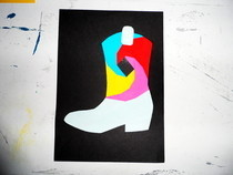 Iris Folding 'Cowboy Boot' Paper Art