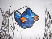 Mudkip Perler Creation