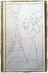 How to make a papercraft. Paris Book Impression - Step 2