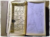 How to make a papercraft. Paris Book Impression - Step 4