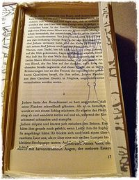 How to make a piece of book art. Paris Book Impression - Step 5