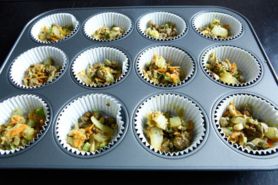 How to bake a savoury muffin. Bison And Egg Muffins - Step 9