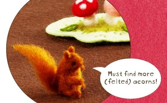 Felted Squirrel