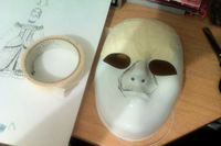 How to make a mask head. Steampunk Plague Doctor Mask - Step 2