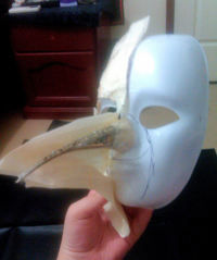 How to make a mask head. Steampunk Plague Doctor Mask - Step 5