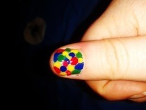 Rainbow Dotty Nail Art