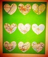 Map Art Canvas Green 9 Grid