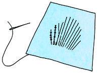 How to make a tote bag. Hedgehog Craft Bag - Step 3