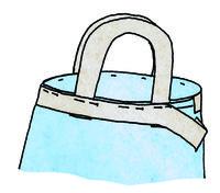 How to make a tote bag. Hedgehog Craft Bag - Step 7