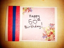 50 Th Birthday Card 1