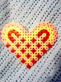Hama Bead Heart