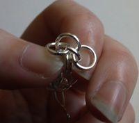 How to make a link bracelet. Byzantine Weave Chainmaille Bracelet - Step 9