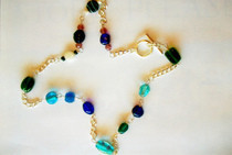 Blue Shades Bead Necklace