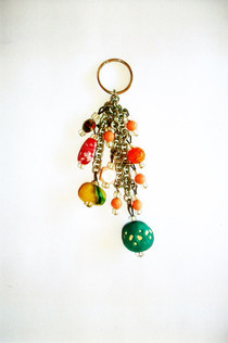 Colourful Beads Keyring
