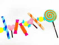 How To Make Fun Candy Garlands From Paper Scaps!