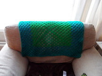 Crochet Green Blanket Chair Cover