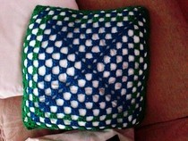 Green Shades Crochet Pillow 2