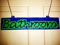 Hama Bead Bathroom Sign