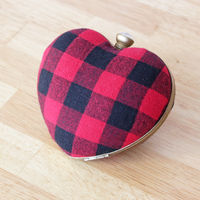 How to make a heart shaped bag. Punk Rock Heart Clutch - Step 7