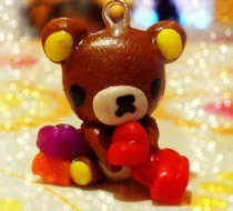 Rilakkuma Playing With Polymer Clay Charm