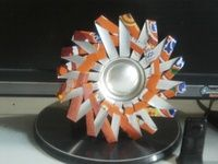 How to make a recycled photo frame. Spikey Photo Frame From Soda Can - Step 6