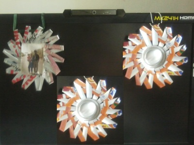 How to make a recycled photo frame. Spikey Photo Frame From Soda Can - Step 7