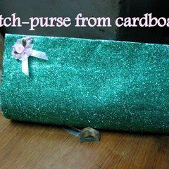 Clutch Purse From Cardboard!!!!