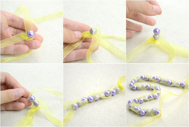 Twinkle and Twine Tutorial Ribbon and Pearl Stretch