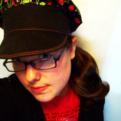 Cherry Print Newsboy Cap