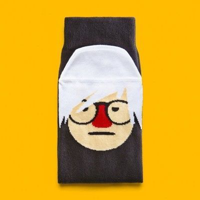 Medium art socks andy sock hole grande