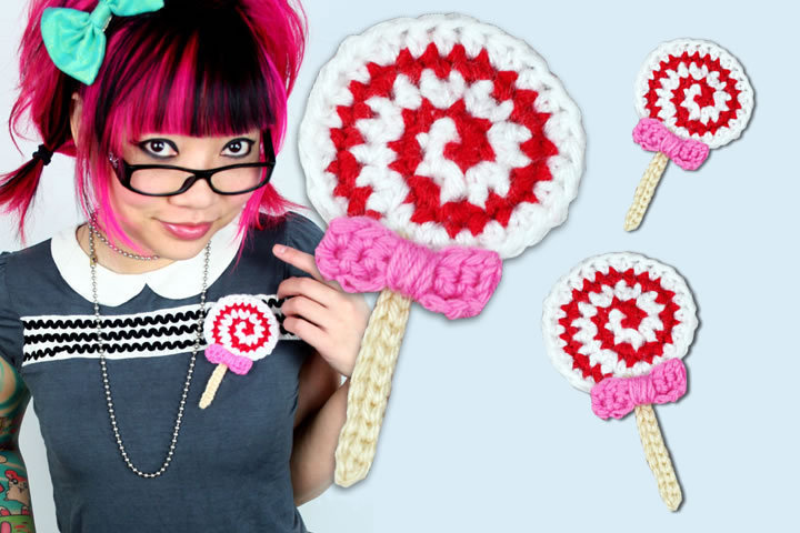 Lollipop Brooch