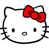 Large square hello kitty color