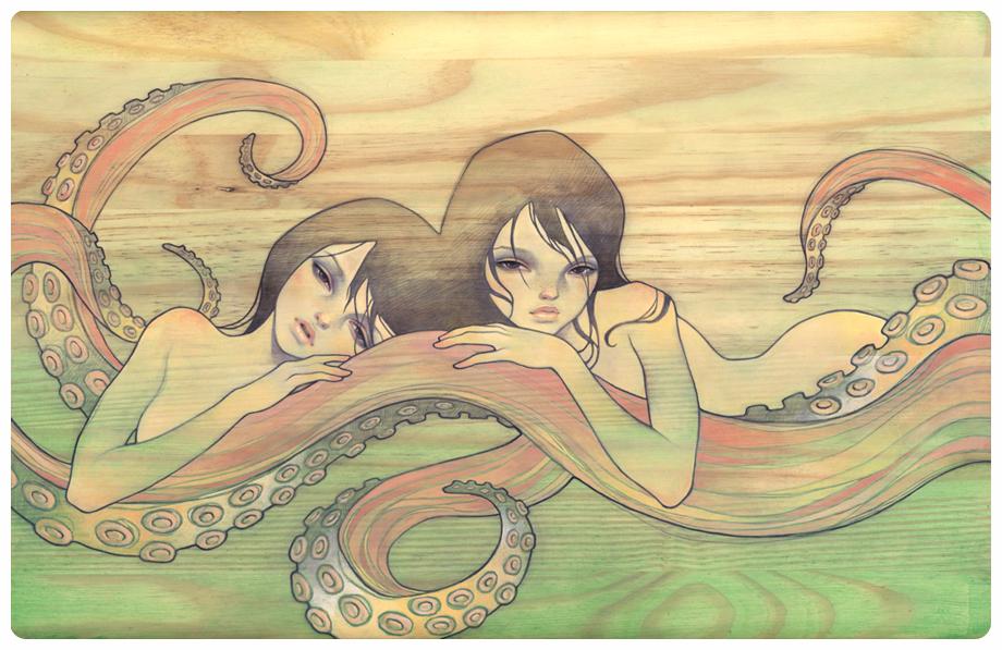 Японки с осьминогом 12 фотография