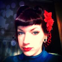 Large square me hair flower jumper