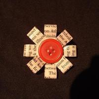 Large square button brooch 1239871385