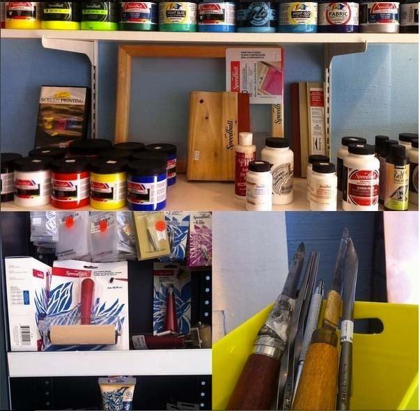 Shelf life art supply co shop showcase cut out for Shelf life of paint