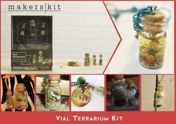Vial Terrarium Kit from Makers Kit