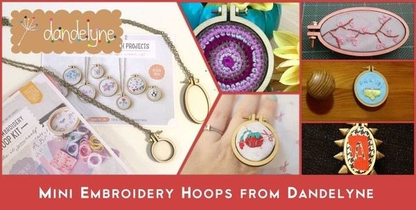 Mini Embroidery Hoops from Dandelyne