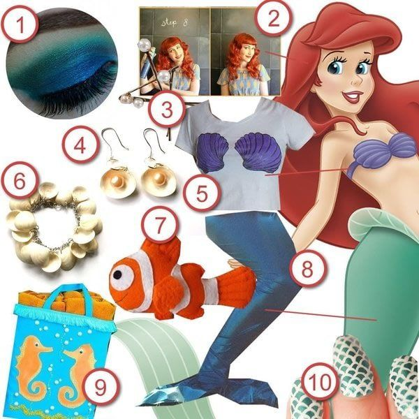 The Little Mermaid 183 Diy The Look 183 Cut Out Keep Craft Blog