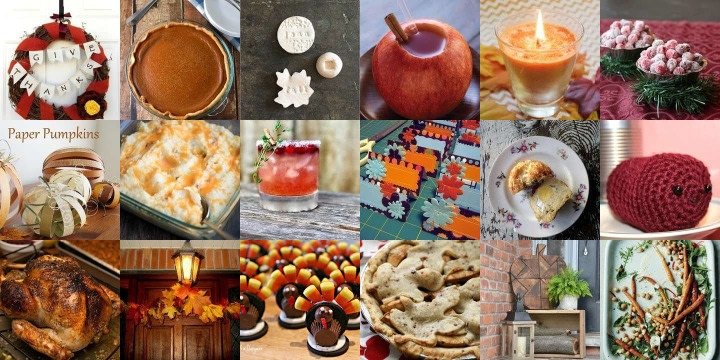 30 Crafts & recipes to make for Thanksgiving