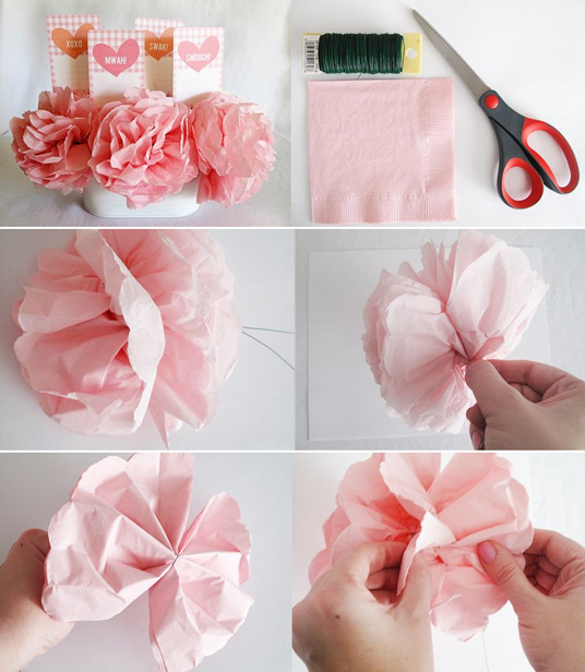 Napkin Flowers Craft Finds Cut Out Keep Blog