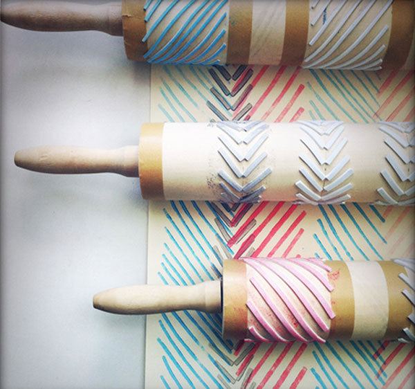 Rolling pin geometric stamps craft finds cut out - Como hacer sellos ...