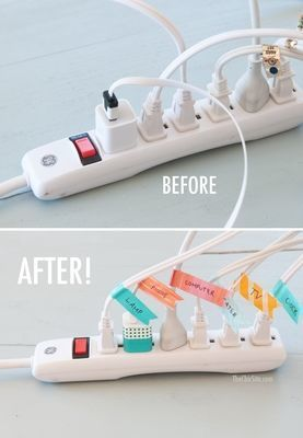 Medium before and after cord organization