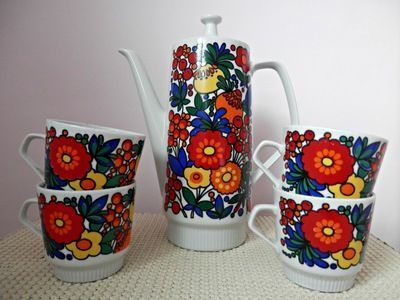 Medium made in german democratic republic coffee pot and cups